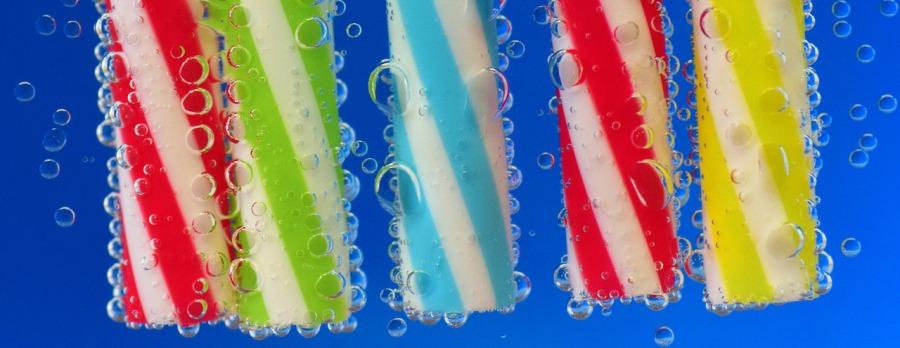 bubbles blown therough straws